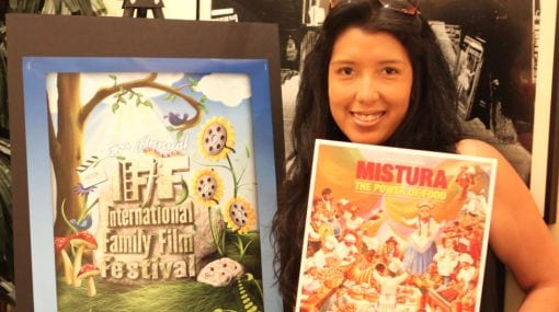 Patricia At The International Family Fun Festival, Where Her Film Won An Award
