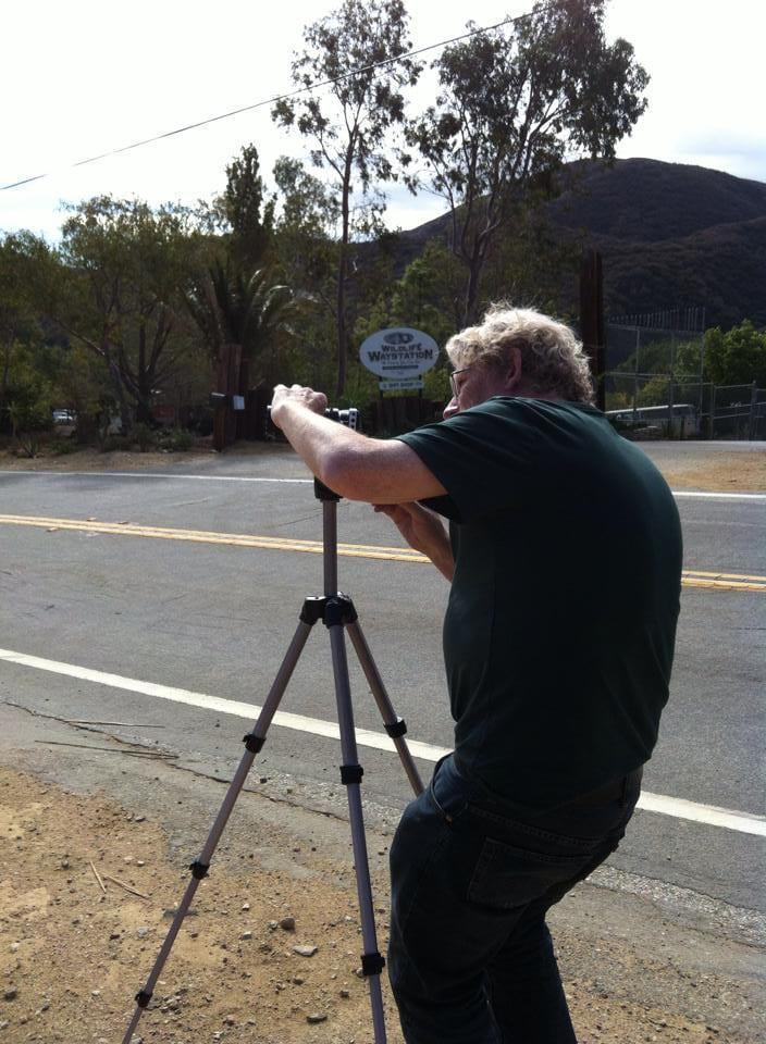 Michael adjusting the camera