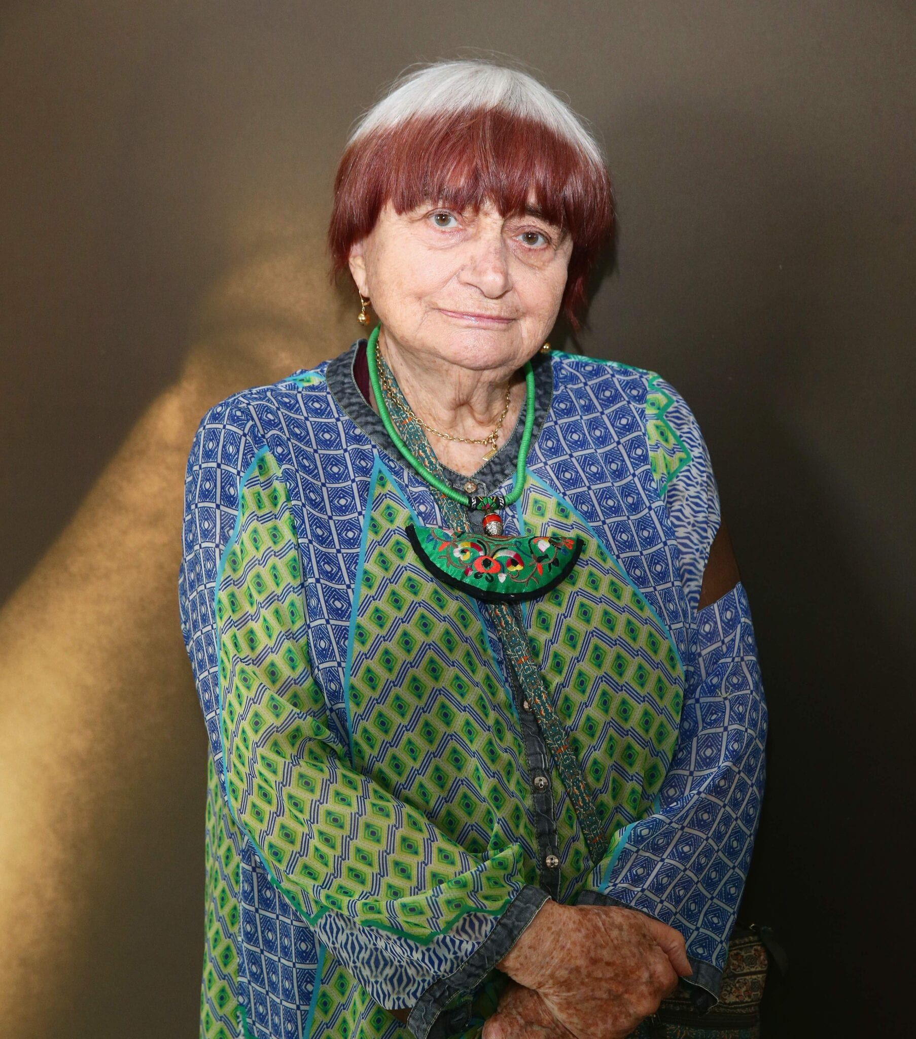 CANNES, FRANCE - MAY 23: Agnes Varda Attends Kering Talks 'Women In Motion' At The 68th Annual Cannes Film Festival On May 23, 2015 In Cannes, France. (Photo By Vittorio Zunino Celotto/Getty Images For Kering)