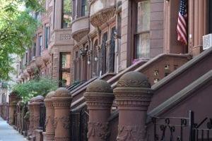 Row of Harlem Brownstones, 119th Street, Harlem, 2015
