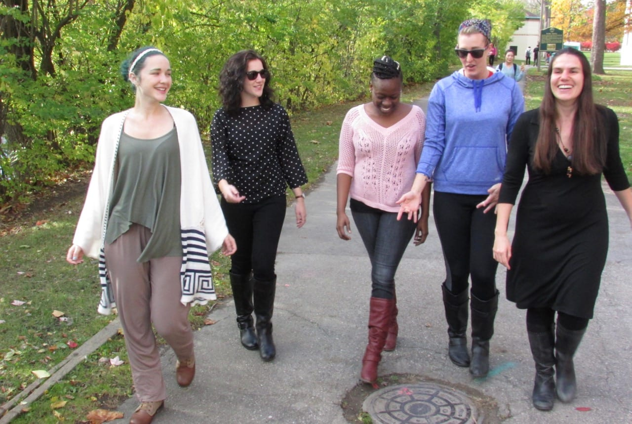 The agnès films #FavWomanFilmmaker Campaign Team. Photo by Hannah Countryman.