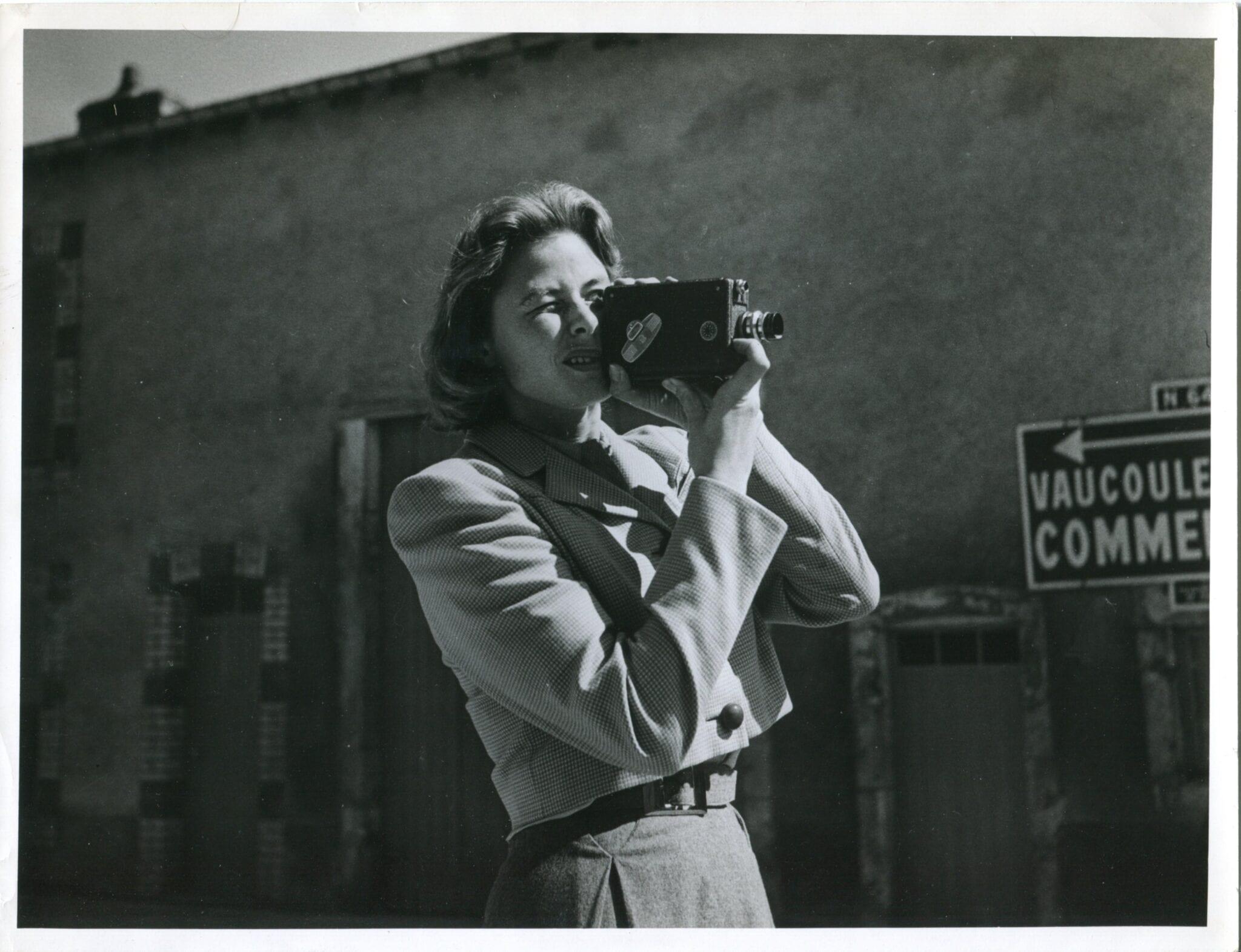 Ingrid Bergman Shooting. © Mantaray Film