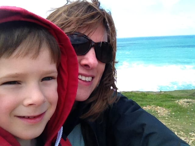 Raising Films Project Manager, Laura Giles with her son Ben.