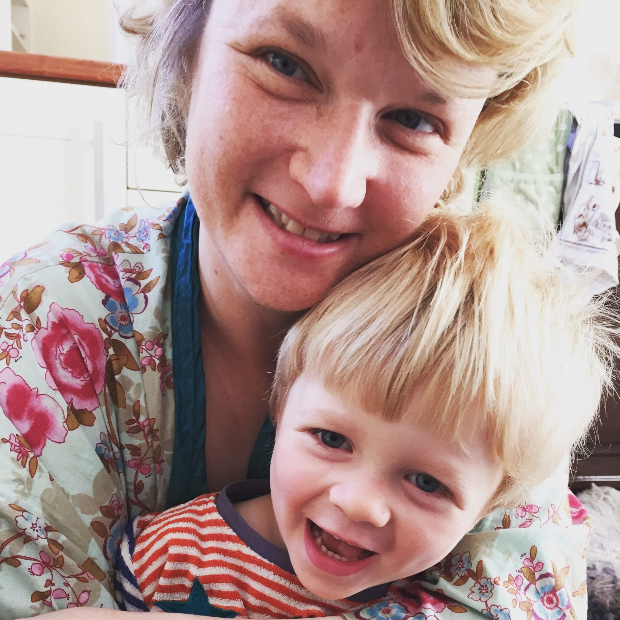 Raising Films Co-Founder Hope Dickson Leach with her son.