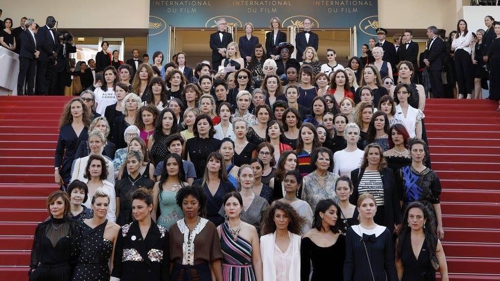 Manifestation Of 82 Women At Cannes. © Festival De Cannes