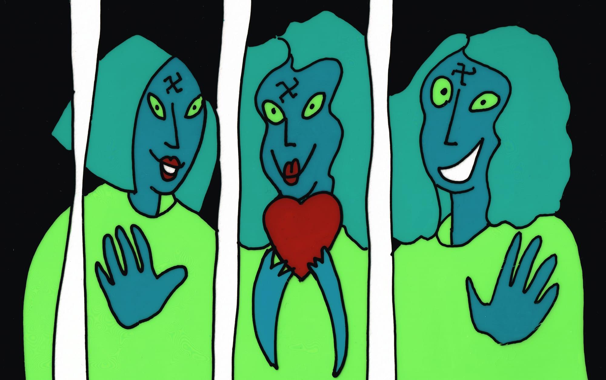 Panic Attack  The Manson Girls  ©Eileen OMeara 2K