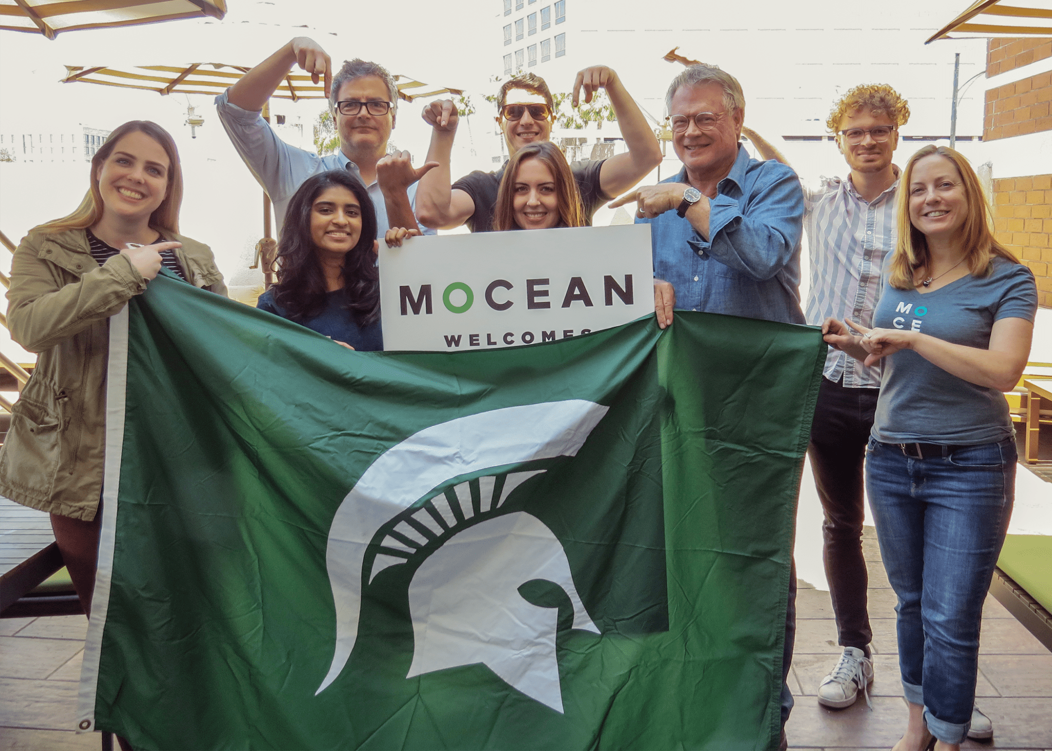 A Photo With Some Of The Other Office Spartans At MOCEAN