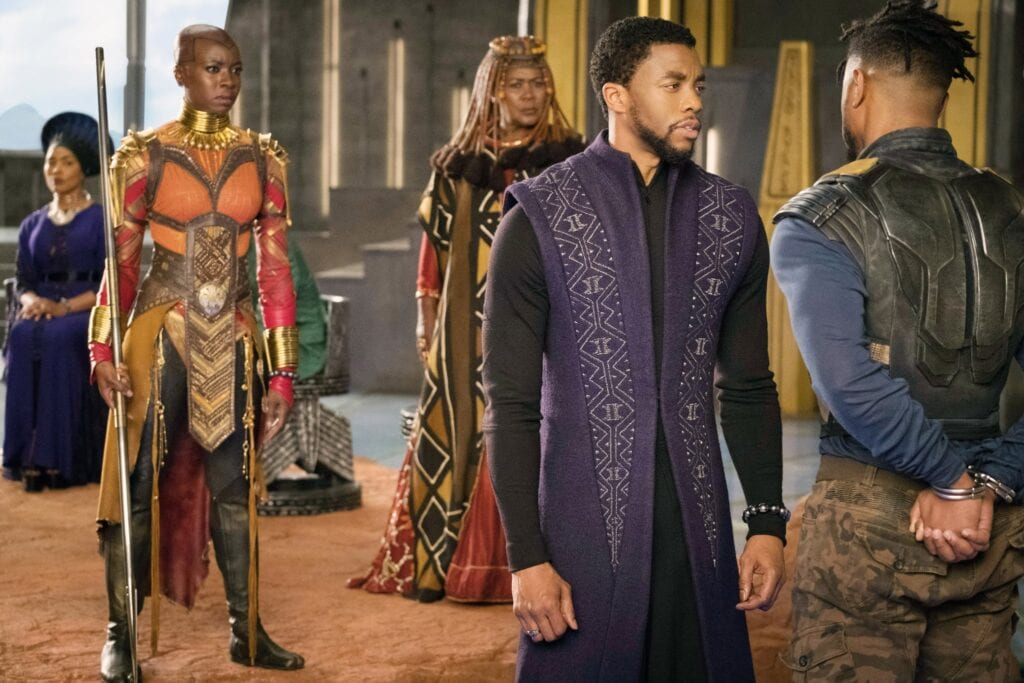 Still from Black Panther showing their government